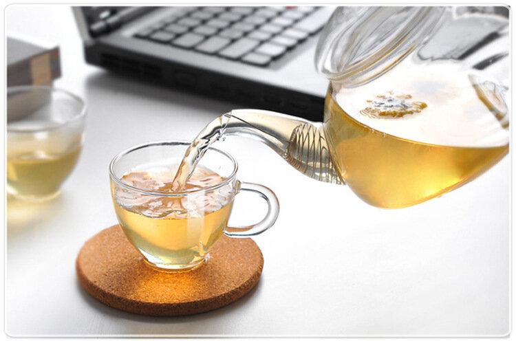 1PC 250ML,600ML,750ML 1200ML แก้วกาแฟแก้วหม้อชา Blooming แก้วจีนชาแก้วทนความร้อนหม้อ JN 1011