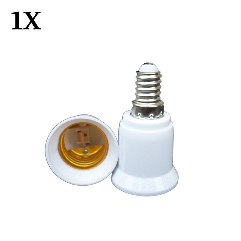 محول مقبس تحويل E14 إلى E27 ، قطعة واحدة ، مادة عالية الجودة ، مقاوم للحريق ، حامل مصباح