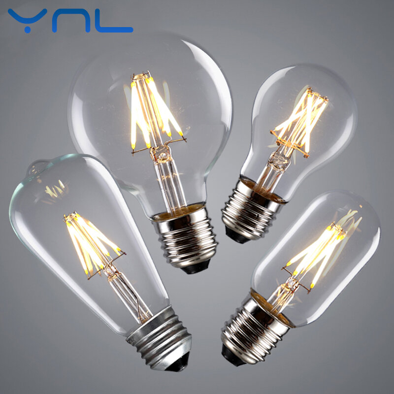 YNL-لمبة خيوط LED عتيقة ، 2 واط 4 واط 6 واط 8 واط ، لمبة LED عتيقة اديسون E14 ، مصباح شمعة ريترو 220 فولت