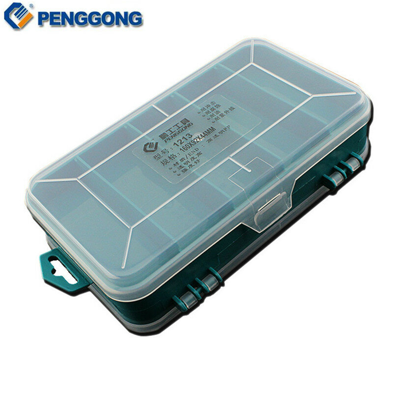 Trasparente Tool Box Doppio-Lato di Plastica Tool Box di Stoccaggio Strumento Multifunzione Strumento caso