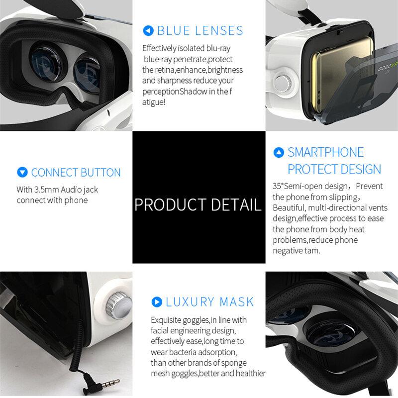 Casco in cartone 3D originale BOBOVR Z4 in pelle realtà virtuale occhiali VR cuffie Stereo BOBO VR per telefono cellulare 4-6'
