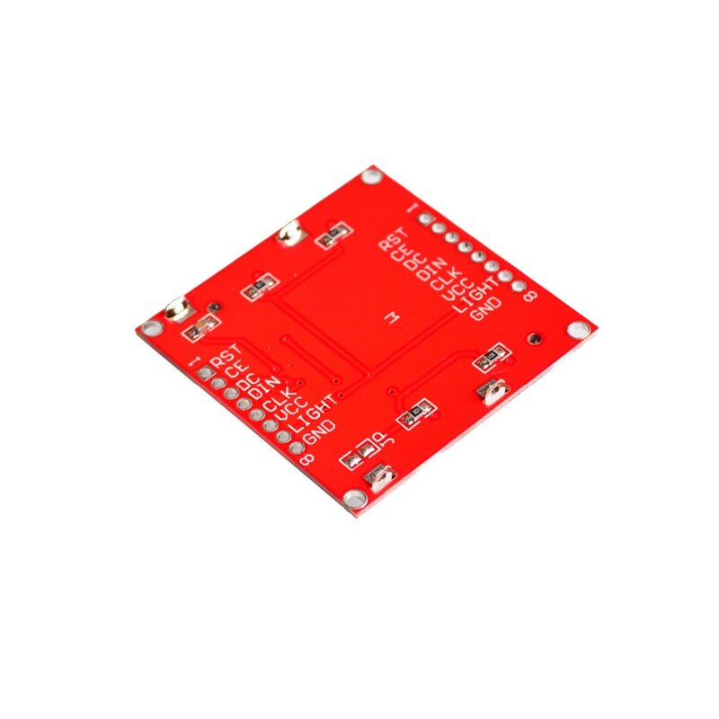 Module d'affichage LCD avec rétro-éclairage pour Arduino, moniteur, 84x 48, écran, 84x 84, blanc, adaptateur PCB pour Nokia 5110, électronique intelligente,