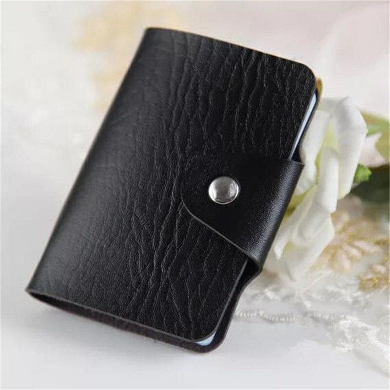 Ruo fei 12 비트 신사용 여성용 가죽 신용 카드 소지자/케이스 카드 소지자 지갑 명함 패키지 pu 가죽 가방