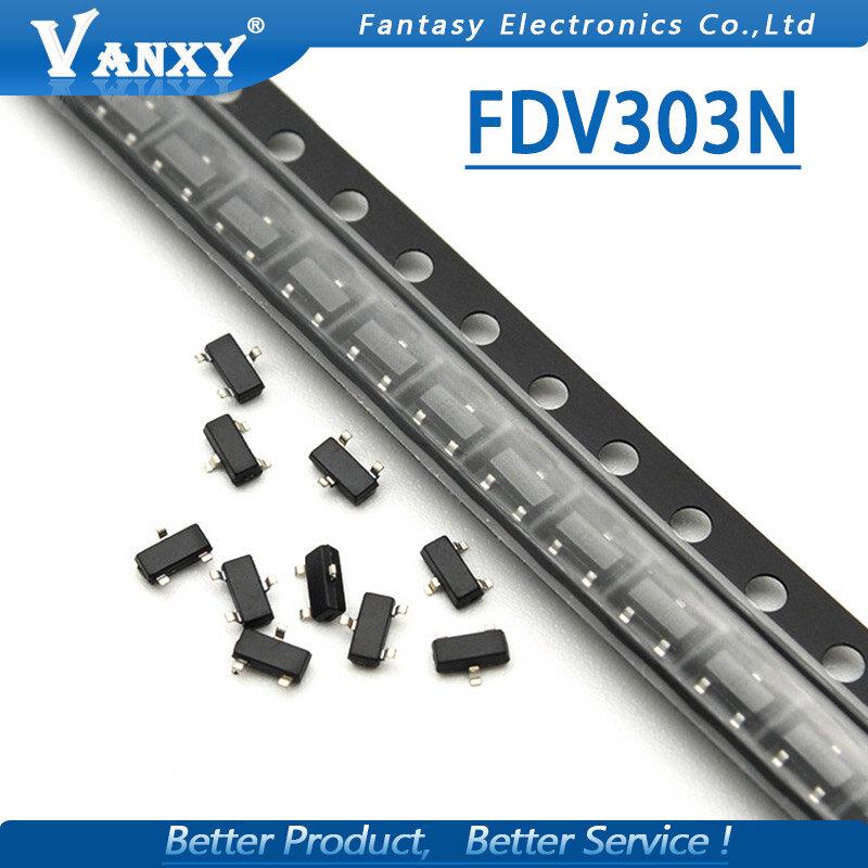 10 قطعة FDV303N SOT23 FDV303 سوت-23