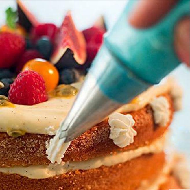 ซิลิโคนซิลิโคน Icing Piping Cream ถุงขนม DIY เค้กตกแต่งเครื่องมือ