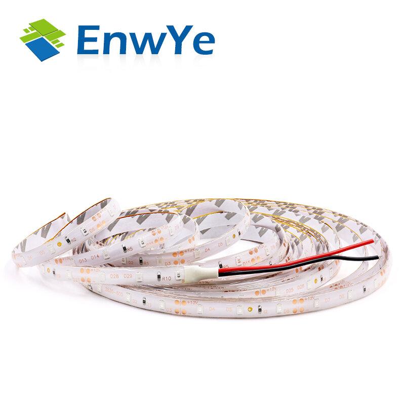 EnwYe — Bande lumineuse à 300LED à raison de 60LED par mètre, luminaire décoratif d'intérieur, étanche et flexible, RVB, diodes 3528/5050, DC 12 V, 5m