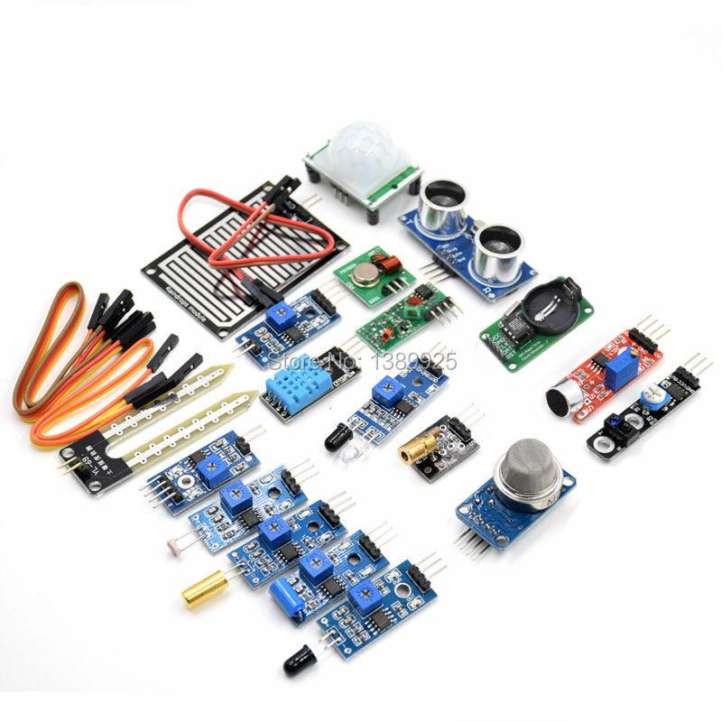 16 pcs/lot Raspberry Pi 3 & Raspberry Pi 2 modèle B le module de capteur paquet 16 types de capteur livraison gratuite