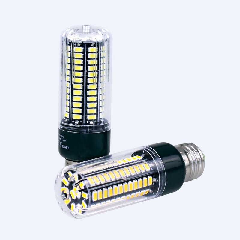 عالية لومينز 5736 SMD E27 3.5W 5W 7W 8W 12W 15W LED الذرة لمبة ضوء 85V-265V ثابت الحالية 28-156 المصابيح مصباح لا وميض
