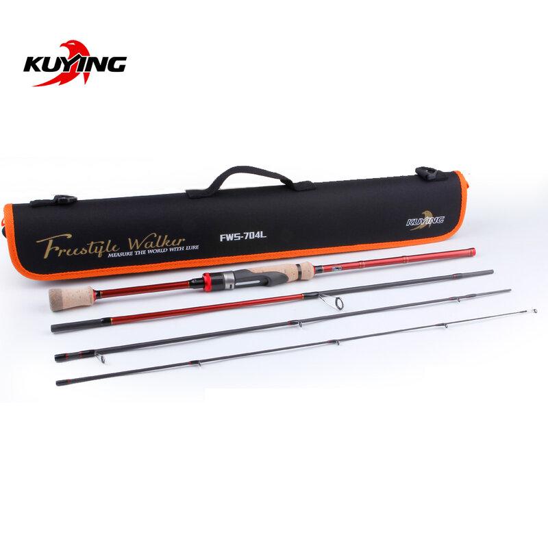 "KUYING Freestyle Walker Spinning Baitcasting 2.1M 7'0 ""ตกปลา Mini Travel ปลาล่อ Rod Pole Cane Soft Light คาร์บอน2-10G"