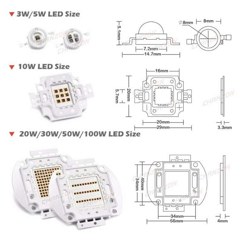 높은 전원 LED 칩 IR 적외선 850nm 940nm 3W 5W 10W 20W 50W 100W 에미 터 라이트 램프 매트릭스 850 940 nm 야간 투시경 카메라