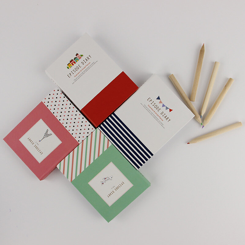 Bloc-notes mixte avec tour créative coréenne, 1 pièce, bloc-notes, papeterie pour journal intime, fournitures scolaires et de bureau avec stylo