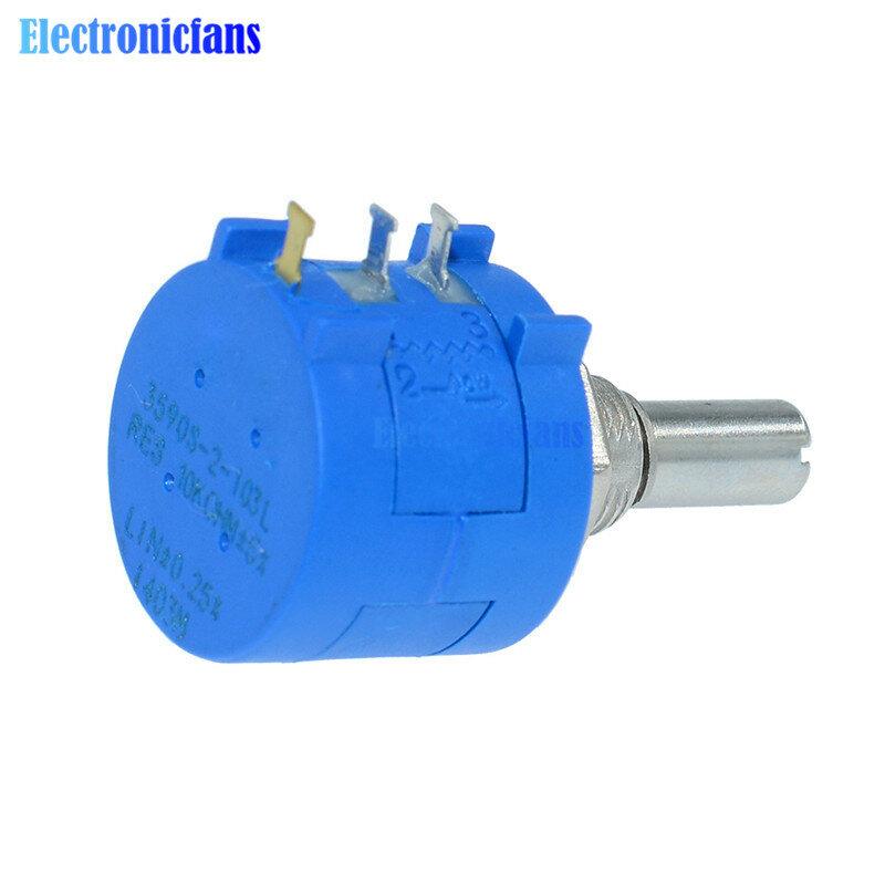 Potenciómetro multivuelta de precisión 3590S-2-103L 3590S 10K ohm, 10 anillos de resistencia ajustable