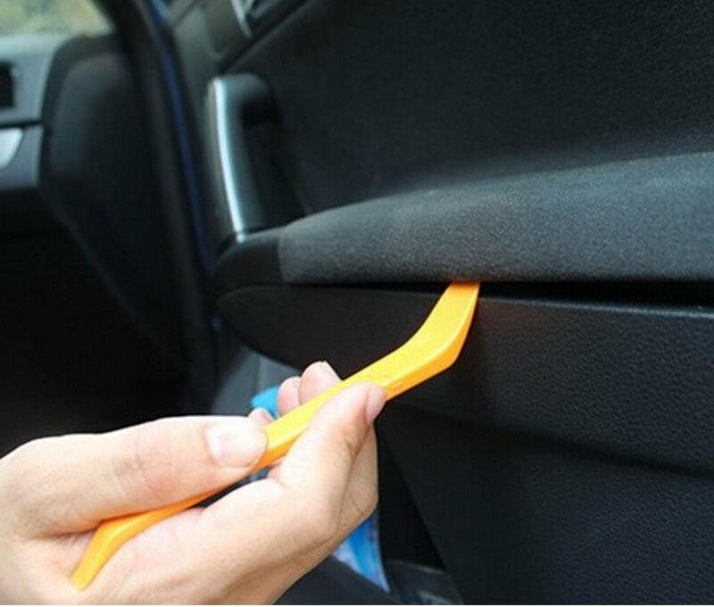 12 قطعة/المجموعة البلاستيك راديو السيارة الباب كليب لوحة تريم داش إزالة الصوت حدق أداة إصلاح