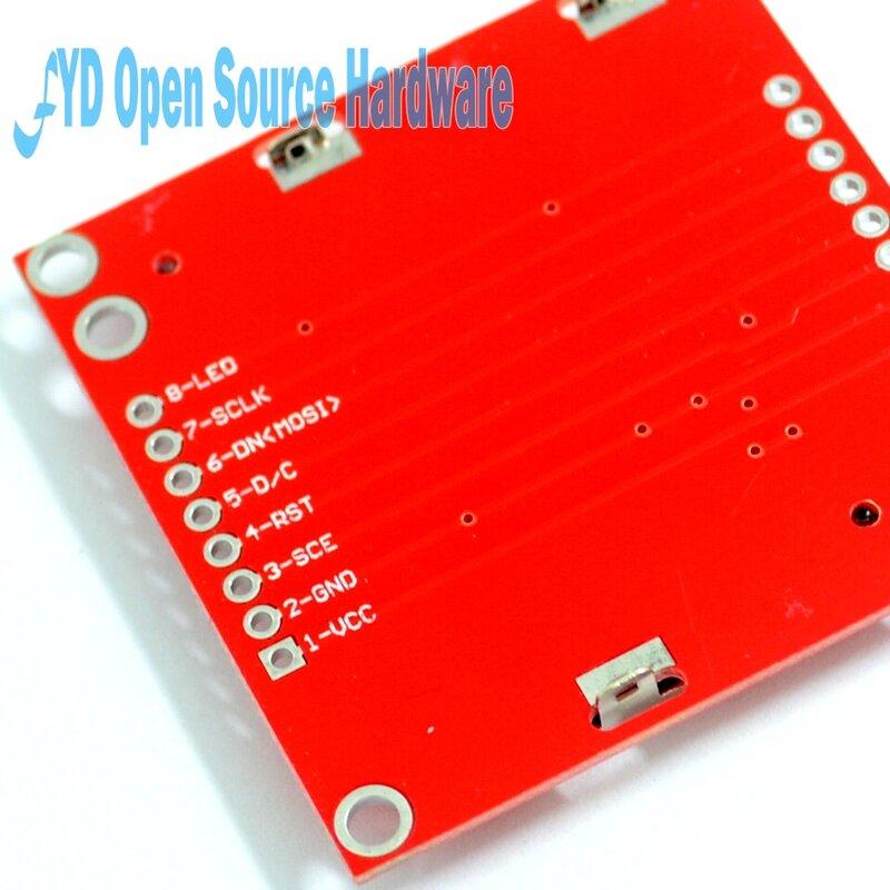 عالية الجودة 84X48 84x84 LCD وحدة الأحمر الخلفية محول PCB لنوكيا 5110 ل