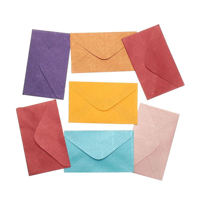 50 pièces Vintage rétro petite couleur blanc Mini papier enveloppes de mariage fête Invitation enveloppe cartes de voeux enveloppe cadeau