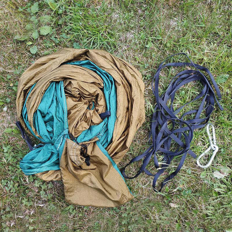 24 colore 2 Persone Portable Paracadute Hammock di Campeggio Di Sopravvivenza Giardino Flyknit di Caccia Per Il Tempo Libero Hamac Da Viaggio Doppio Persona Hamak