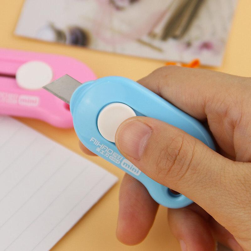 Mini Cuchillo pequeño de utilidad para oficina, cortador de papel, material escolar de aleación de alta calidad