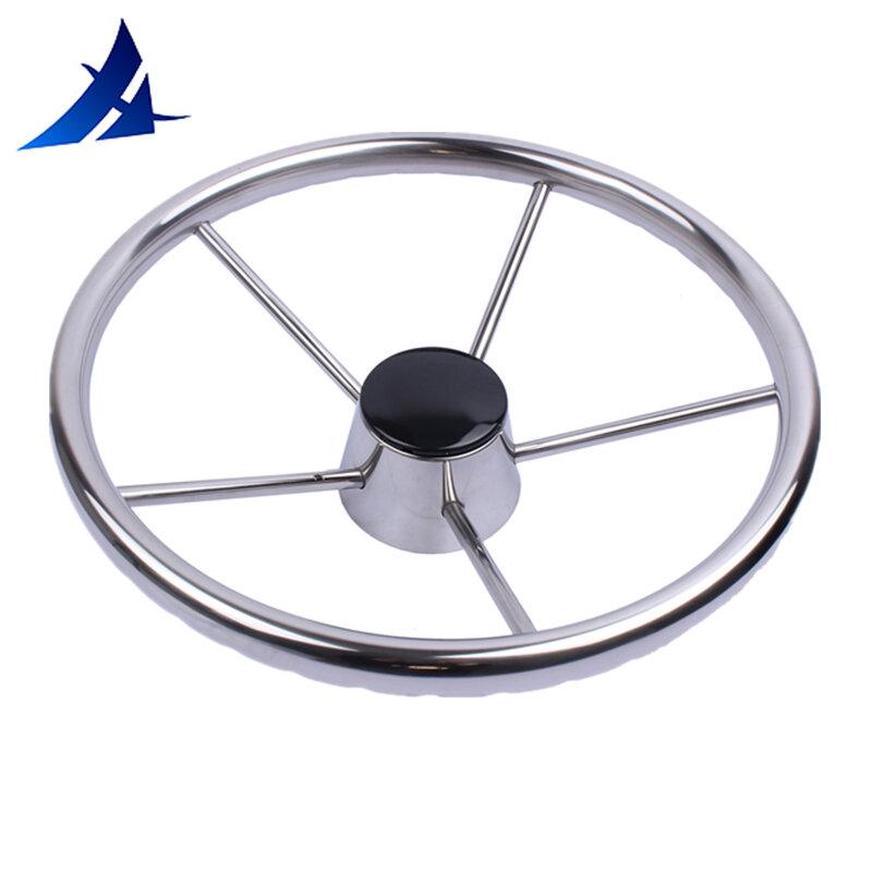 مرآة عجلة قيادة من الفولاذ المقاوم للصدأ ، 13.5 بوصة ، 5 أضلاع ، ملحقات قارب بحري مصقول لليخوت