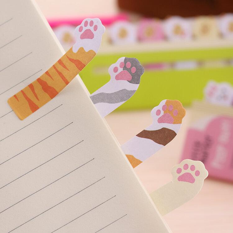 Mini bloc-Notes animaux dessin animé, Mini carnet autocollant Kawaii, papier pour Note autocollante Kawaii, fournitures scolaires