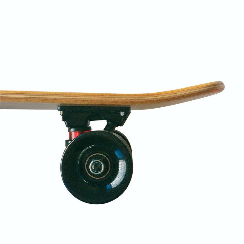 لوح تزلج من خشب القيقب الصغير ، لوح تزلج من الخيزران ، مقاس 22 × 6 بوصة ، لوح تزلج قياسي ريترو
