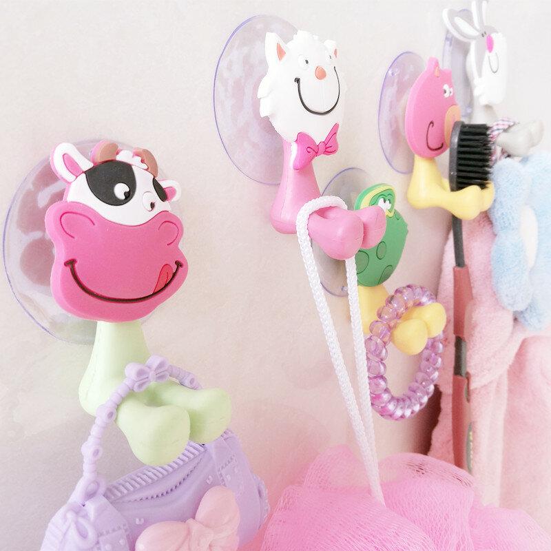 Di alta Qualità cute Cartoon ventosa spazzolino da denti ganci di aspirazione titolare set da bagno accessori Eco-Friendly