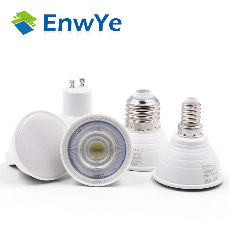 Bombilla de luz led para lámpara de punto, focos de 220/240V, E27, E14, MR16, gu5,3, GU10, 48, 60, 80, 2835, SMD, 10 unidades