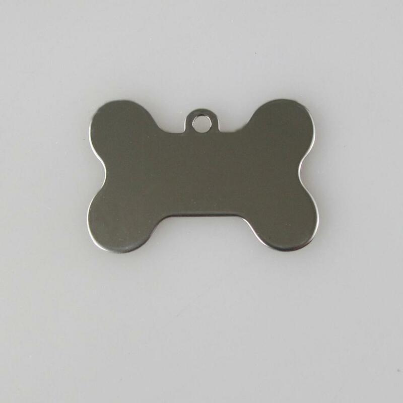 สแตนเลสแท็กสุนัขกระดูกรูปร่างแท็กสัตว์เลี้ยงแท็กสแตนเลส