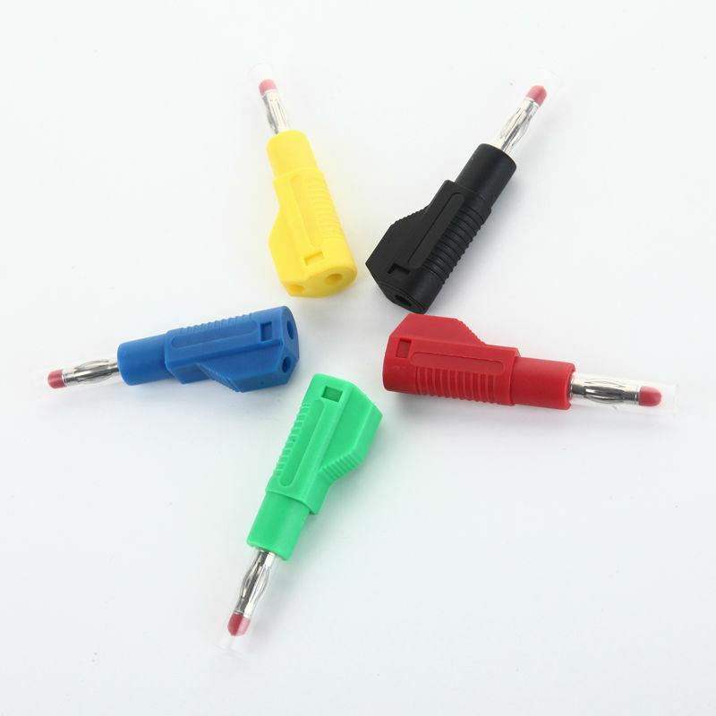 10 Uds 4mm Conector Banana De Cobre Fino Audio Altavoz Amplificador Cable De Alimentación Tornillo Vaina Estiramiento Flex Superpose Conector Adaptador Bestdealplus