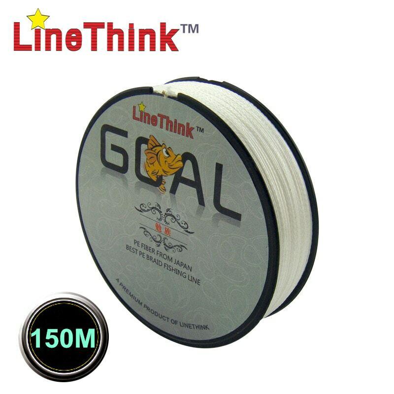 150M LineThink ยี่ห้อเป้าหมายคุณภาพญี่ปุ่น Multifilament 100% PE Braided สายตกปลา Braid จัดส่งฟรี
