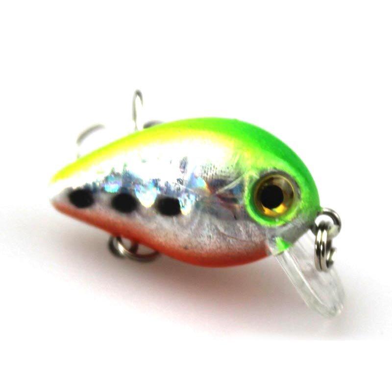 1PCS 3ซม.1.5G Mini Crazy Wobble Pesca Crankbait Hard Crank เหยื่อประดิษฐ์ตกปลา Lure Swimbait ปลาญี่ปุ่น Wobbler