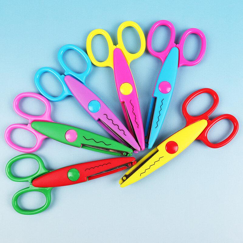 6PCS DIY Werkzeuge 6 Muster Laciness Kind DIY Schere Sammelalbum Papier Tagebuch Dekoration Sicherheit Schere