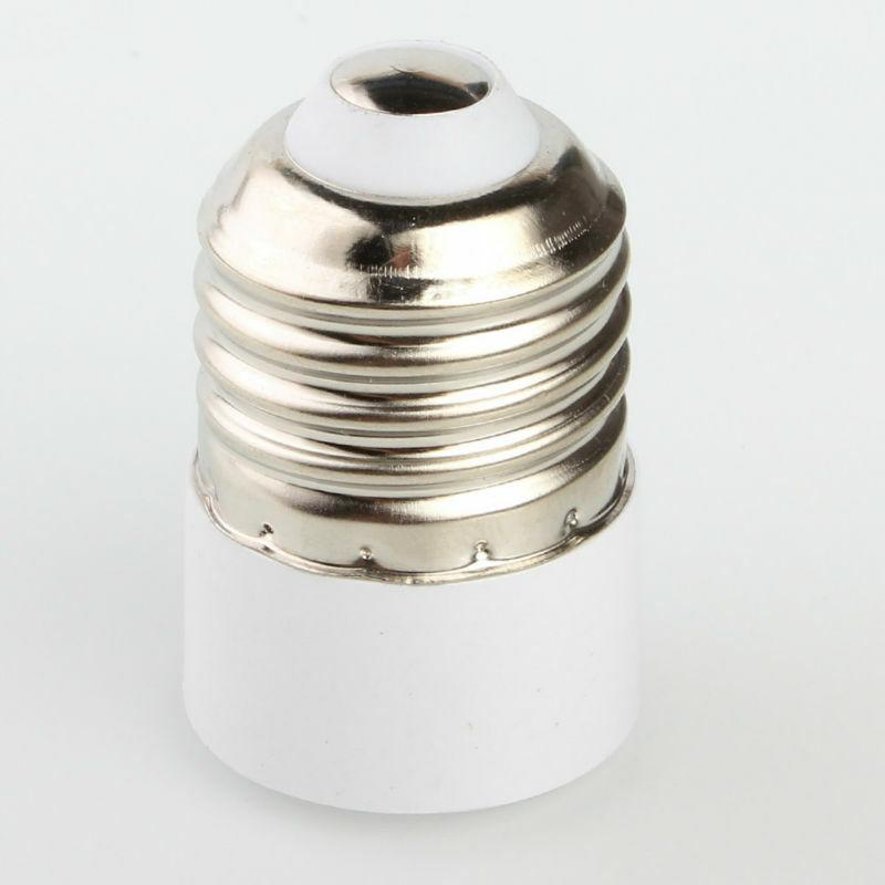 Adaptador de enchufe de conversión E27 a E14, soporte de lámpara resistente al fuego, Material de alta calidad, 1 unidad