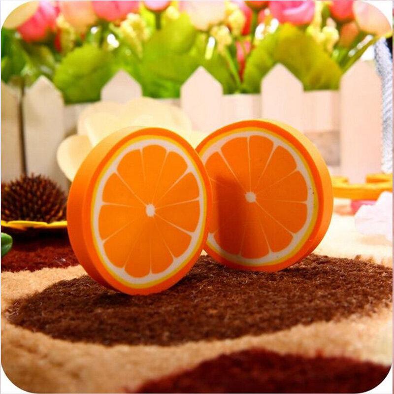1pc/ packCute Frische Obst design radiergummi Kawaii Wassermelone Orange Kiwis radiergummis schüler geschenk preis büro schule liefert