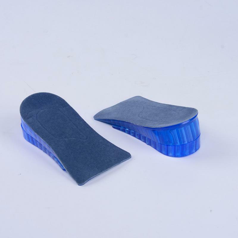 1คู่คู่ชั้นซิลิโคนInsoles Comfy Unisexผู้หญิงผู้ชายซิลิโคนเจลLiftความสูงเพิ่มรองเท้าInsoles Heelใส่Pad