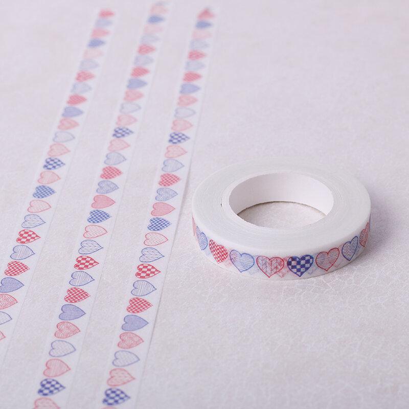 8 millimetri * 10m di Carta Decorativa Washi Nastro Adesivo FAI DA TE Artigianale Accessori Deafting Nastro Adesivo Cuore