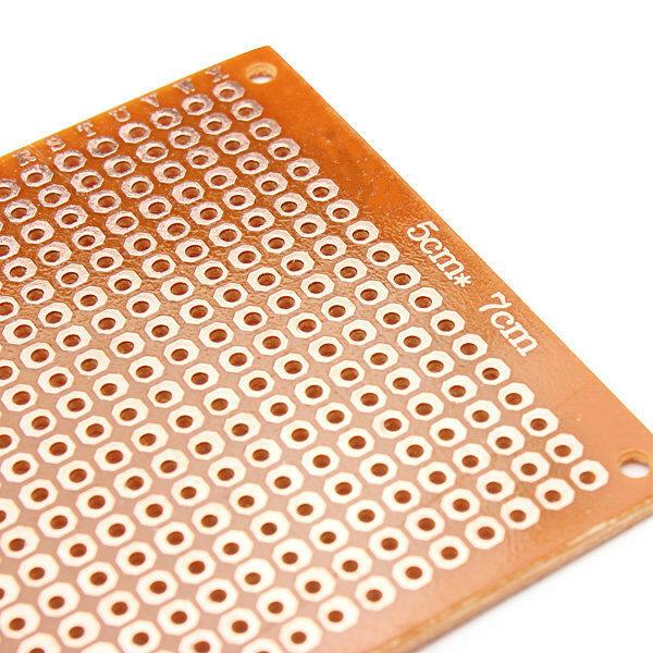 전자 키트 회로 breadboards 10pcs 빈 pcb breadboard 유니버설 diy phototype 보드 단일 측면