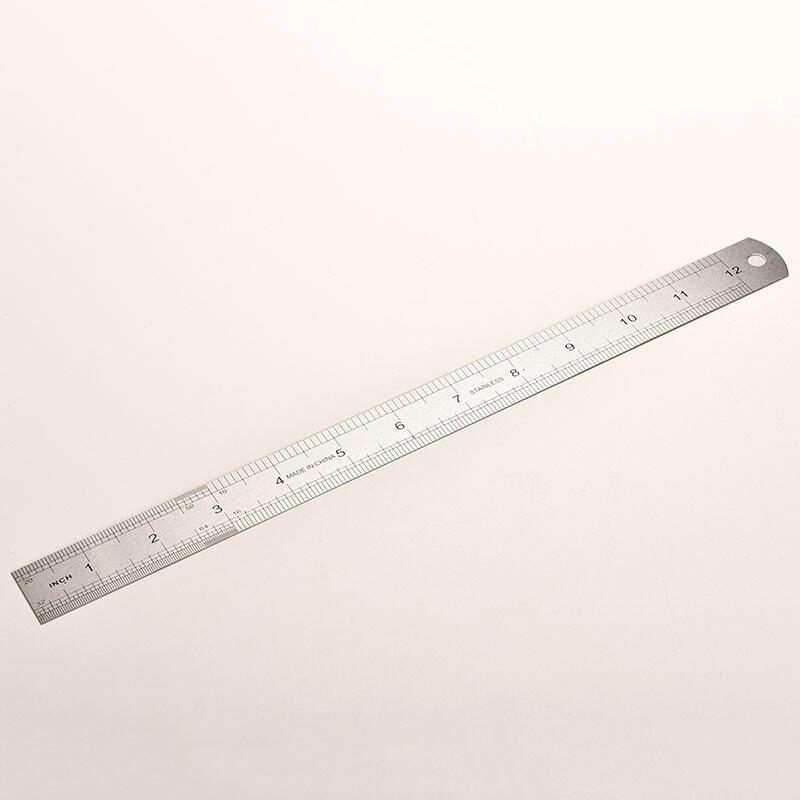 สแตนเลสไม้บรรทัดเมตริก RULE ความแม่นยำสองด้านเครื่องมือวัด 30 ซม.ขายส่ง