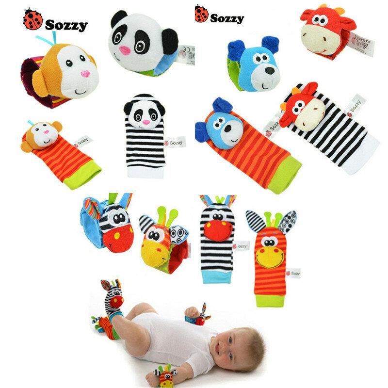 Giocattoli sonaglio per bambini ricerca del piede da polso piccolo giocattolo morbido per neonato per 0-12 mesi bambini neonati calzini di peluche Brinquedos