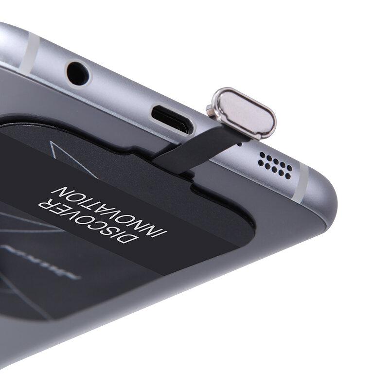 Nillkin Magic หมวดหมู่ QI Wireless Charging Receiver Micro USB / Type C Adapter สำหรับ iPhone 5 5s SE 6 6 S 7 Plus สำหรับ Samsung S6 S7 Edge