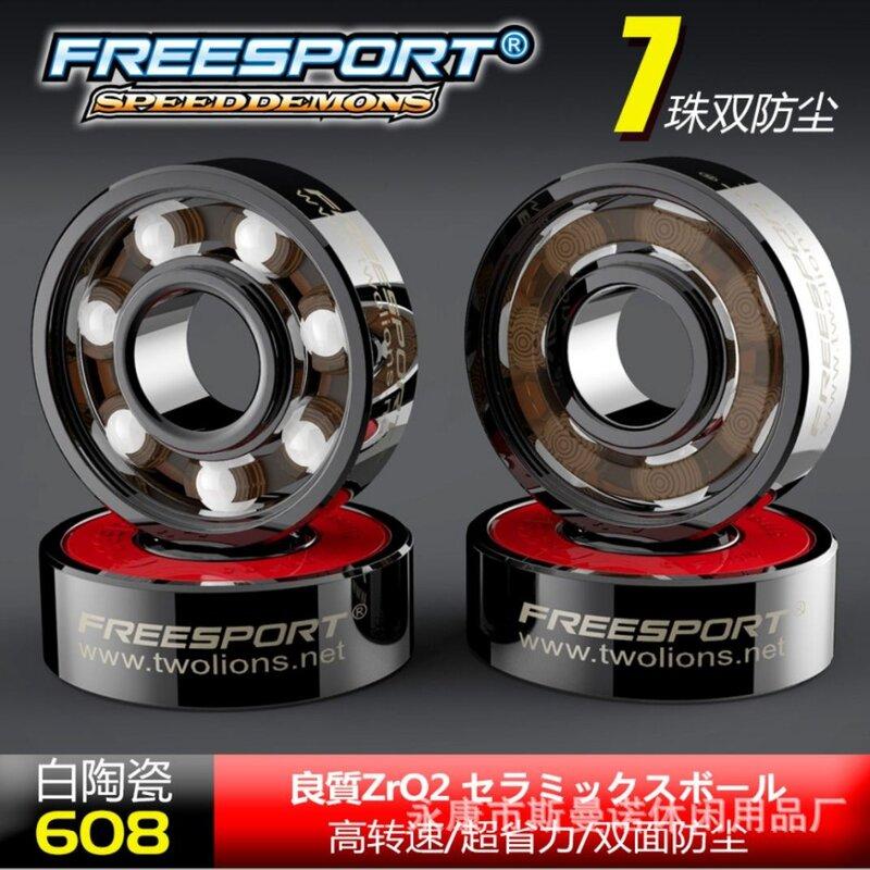 FreeSport-محامل السيراميك الهجينة ABEC 9 ، محامل مضمنة ، لوح تزلج ، لوح طويل ، دوار ، Rodamientos ، 608
