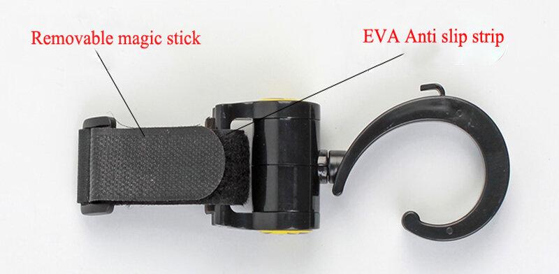 2 قطعة/الوحدة عربة طفل اكسسوارات هوك متعددة الوظائف عربة طفل أسود البلاستيك هوك ATRQ0234