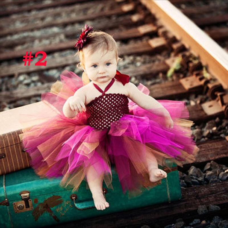 Kleinkind Mädchen Phantasie Prinzessin Tutu Kleid Urlaub Blume Doppelschichten Flauschigen Baby Kleid mit Stirnband Foto Requisiten TS044