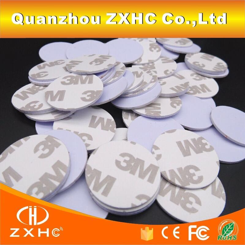 (10 unids/lote) TK4100 (EM4100) RFID 125khz 3M pegatinas monedas 25mm etiquetas inteligentes tarjetas de Control de acceso de solo lectura