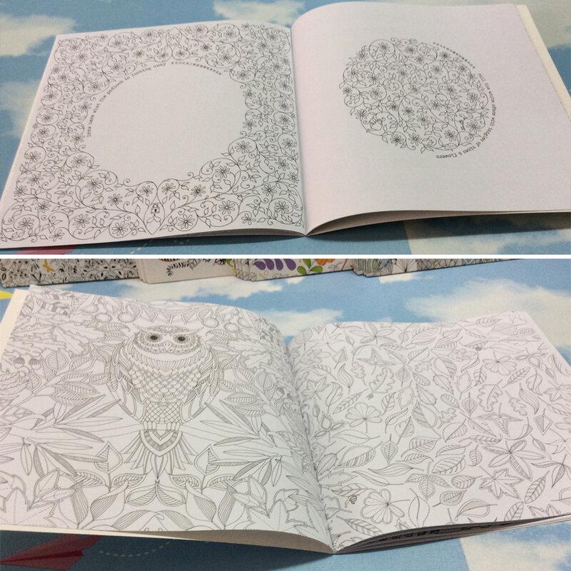 كتاب تلوين الحديقة للأطفال والكبار ، مضاد للإجهاد ، 24 صفحة ، للأطفال والكبار