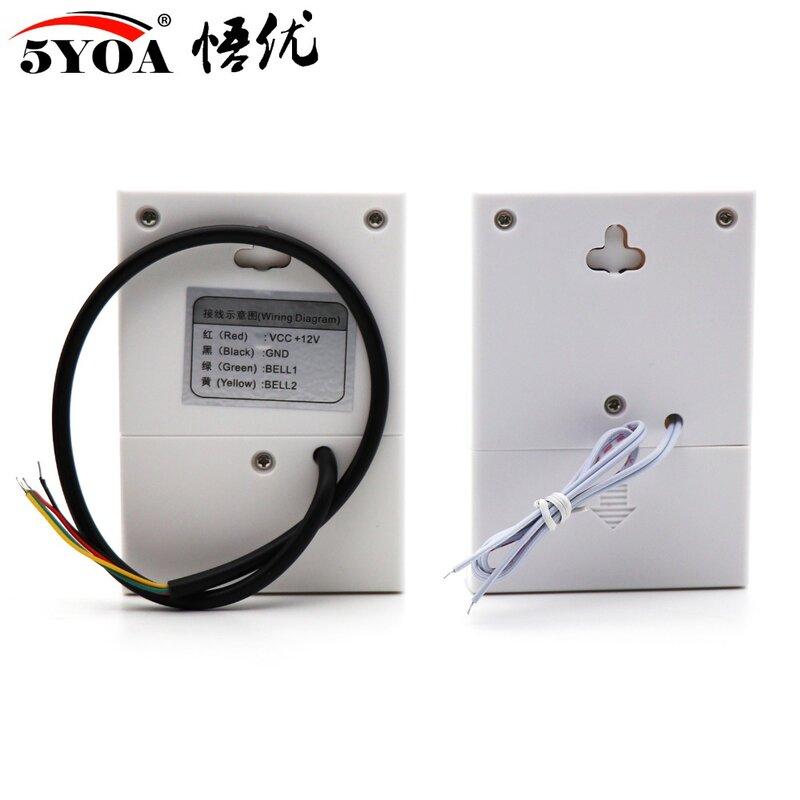 Timbre de puerta con cable y batería, sistema de Control de acceso, sonido ding-dong, 12V, dos tipos