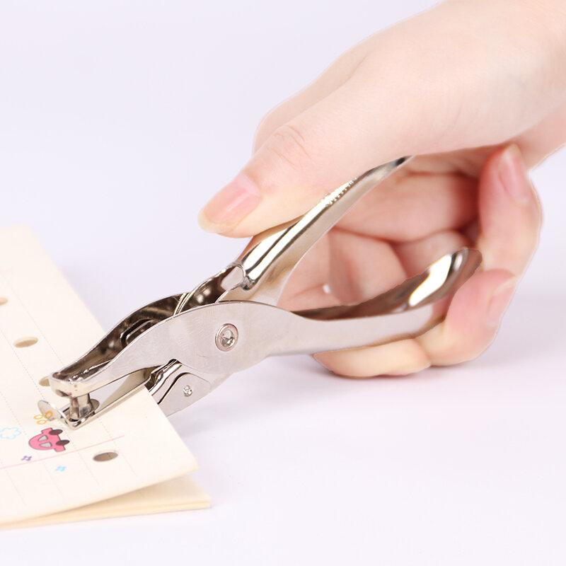 1 PC Metallo Singolo Foro Puncher di Carta A Mano Pugno Singolo Foro Scrapbooking Pugni Si Può Fare 8 Pagine Tutto In Metallo materiali