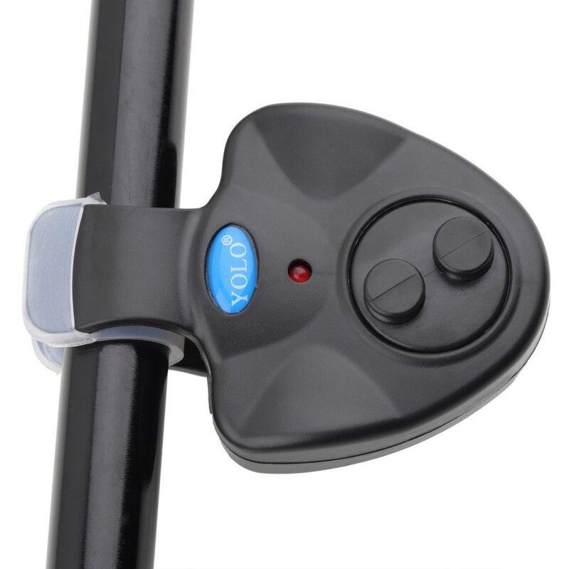 Allarme pesca elettronico LED luce morso di pesca allarme suono forte pesce campana Clip su canna da pesca attrezzatura da pesca accessori