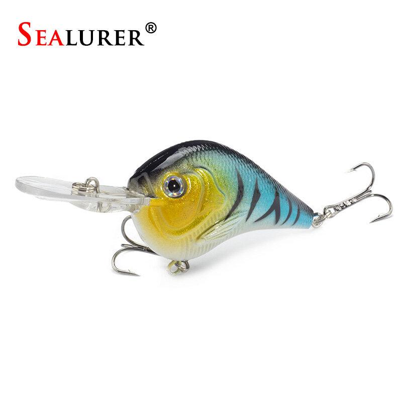 1 PCS Fishing Lure ว่ายน้ำลึก Crankbait 9.5cm11.4g Hard เหยื่อ 5 สีแน่นช้าลอยตกปลา