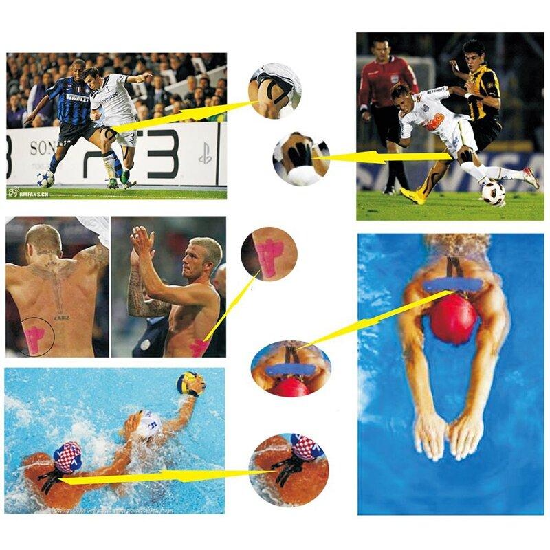 Stick กาวผ้าฝ้าย Kinesiology เทปกีฬา 5cm X 5m กล้ามเนื้อเทปกันน้ำ Protector เข่า Pads กีฬาเทปบาสเกตบอล