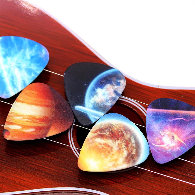 SOACH 10pcs 0.71 millimetri Universo Pianeta due lati picks chitarra acustica paddle FAI DA TE Accessori Per Chitarra pick per ukulele basso